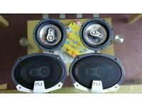 2x car stereos and speakers