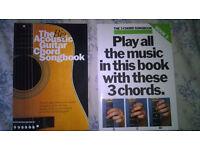 2 guitar chord songbooks