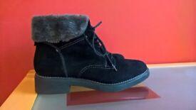 New M & S Ladies Suede Boots plus receipt!