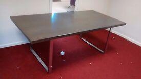 Dining table 7ft dark gray