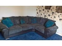 large ALAN WARD corner unit settee, with footstool and cuddlechair