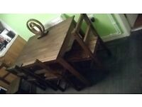 dining table and chairs brand new