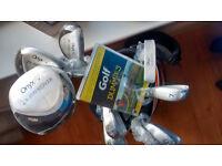 NEW - Golf Clubs, Bag, Balls and DVD