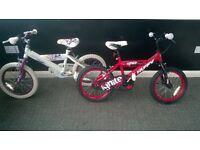 2 16in kids bikes