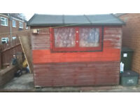 8 x 4 Strong wooden garden shed very good condition