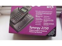 BT Synergy 2150 Digital Cordless Telephone Answering Machine ( plus additional handset)