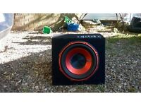 """15"""" edge subwoofer with built in amp"""