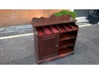 Solid wood dumb waiter cutlery dispenser supplies cupboard excellent central London bargain