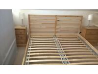 Good condition, Ikea King Size bed frame. Headboard maximum height 90 cm