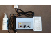 Facial High Frequency Machine & 4 Glass Applicators - only used once. Includes Cream, Gauze & Manual