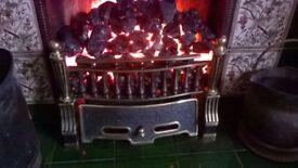 Stunning Burley Electric Fire Basket, 2 heat settings & flicker burning light effect using real coal