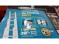 New triple extension ladder