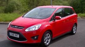 7-SEAtER 2015 Ford GRAND C-Max 1.6 TDCi Zetec, 20,000 Miles, One Private Owner, Sliding Doors, Wa..