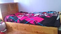 Kids twin bed.