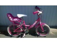 """Girls' bike - Raleigh """"Molly the Ballerina"""" model - 14"""" wheels and lots of accessories"""