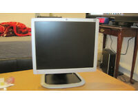 HP 17 inch LCD monitor vertical or horizontal use height adjustment perfect working order