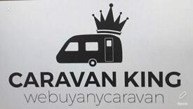 We buy any caravan GET CASH Anything considered all areas covered CARAVANKING. Wanted/for sale