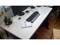 Desk Ikea LINNMON white and legs ADILS black