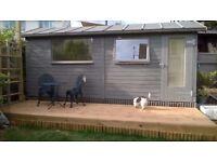 Good size double room PLUS garden lounge/studio