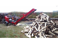 Firewood processing, log spliting, biomass, firewood processor hire