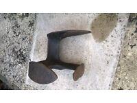 Antique cast iron shoemakers last