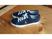 Unisex Ralph Lauren navy blue trainers/sneakers, size 7, NEW in box.