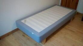 IKEA SINGLE BED BASE AND WOODEN LEGS (As New)