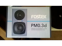 Fostex PM0.3d 2-way Powered Monitor Speaker System - Black Pair