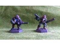 2 Chainsaw warrior warhammer 40k metal miniatures