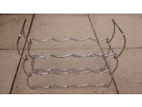 Wine rack, small, silver coloured *3 collection locations*