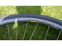 "90's TREK 26"" mountain bike wheels for sale. Good condition. TYres decent treads."