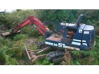 Kubota KH-51 mechanically sound 2.5 tonne mini digger £4,500 ONO
