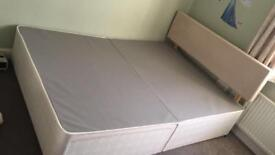 Double divan bed with 2 drawers and headboard