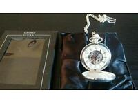 SMALL LIMITED EDITION FLYING SCOTSMAN POCKET WATCH WITH CHAIN.BRAND NEW.UNUSED IN BOX.