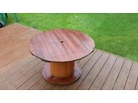 Garden table handmade cable drum