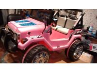 Twin seat 12 volt pink Raptor electric ride on Jeep (two speed)