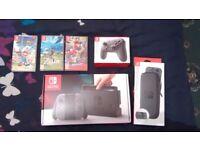 Nintendo Switch + 3 Games + Pro Controller + Case
