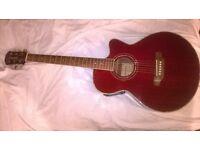 STRETTON PAYNE Electro acustic dreadnought guitar.