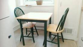Small wooden table and chairs