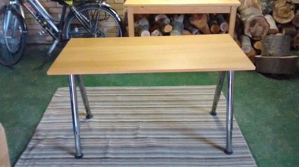 ikea desk light oak 120cm