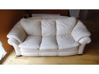 High quality cream couch & chairs, very deep and comfy