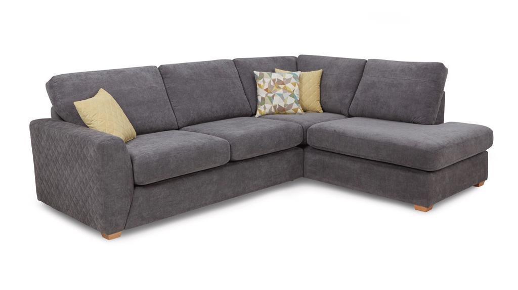 Dfs Astaire Lh Corner Sofa In Graphite Grey In Ipswich