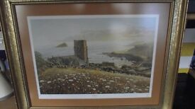 Signed David Young prints of Wembury and Burrator