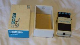 Boss DD3 Blue Label Long Chip Delay Guitar Effect Pedal MIJ with Original Box