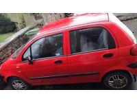 Daewoo matiz xtra hatchback car red motor vehicle 995cc cheap insurance first time new driver