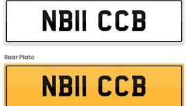 Private registration number plate NB11CCB