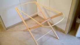 Pine colour Moses basket or carry cot holder