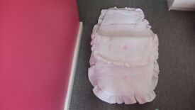Baby Girls Pram Liner Set
