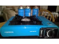 CAMPINGAZ stove, as new never used, complete with carry case and 3 Gaz refills