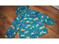 Baby boy's hooded waterproof jacket 12-18 months